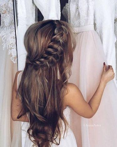 Peinados Para Bodas 30 Tipos De Peinado Que Te Cautivaran - Peinado-semirecogido-con-trenza