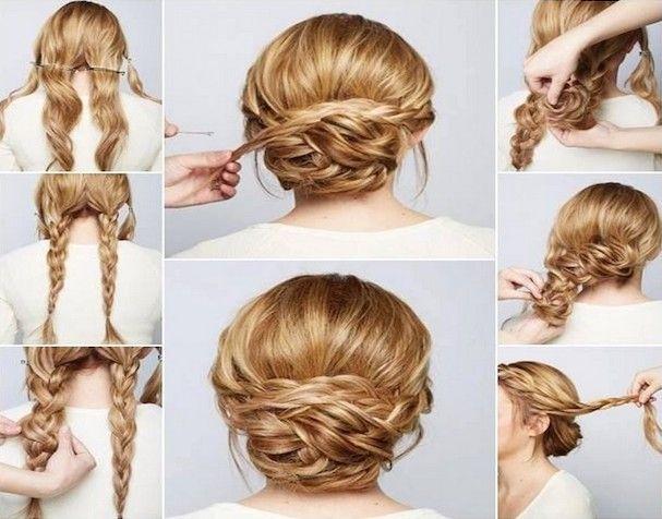 Peinados recogidos con trenza para boda