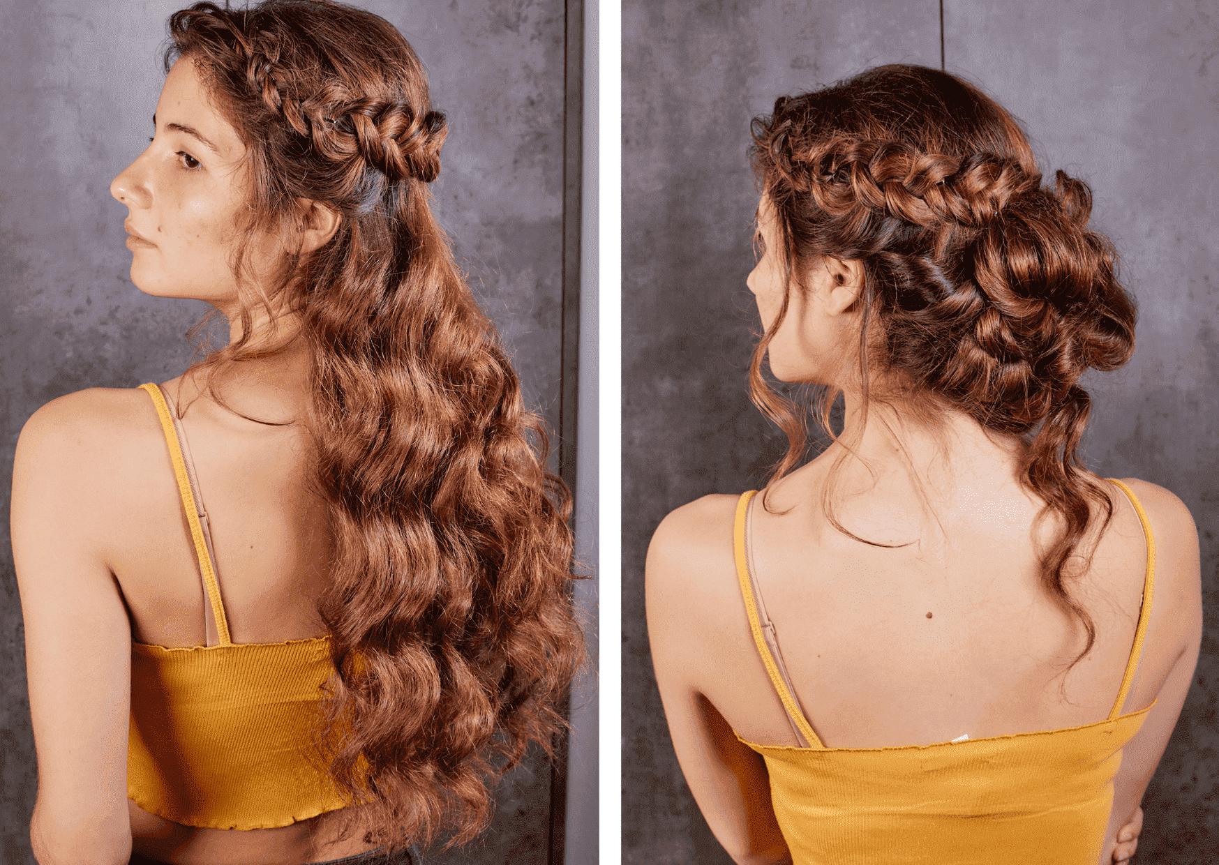 Recogido rizado peinado