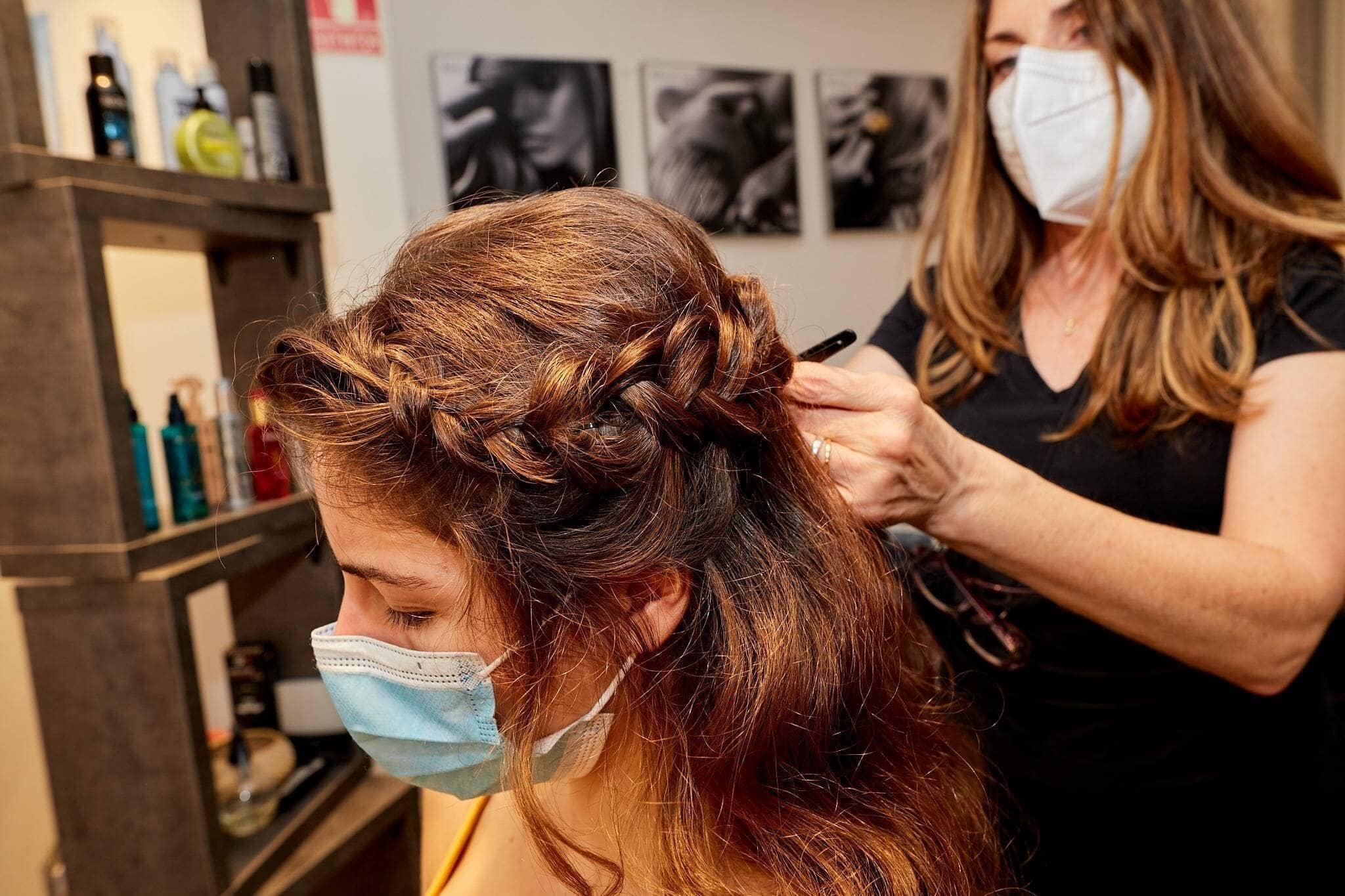 recogidos trenzas peinado