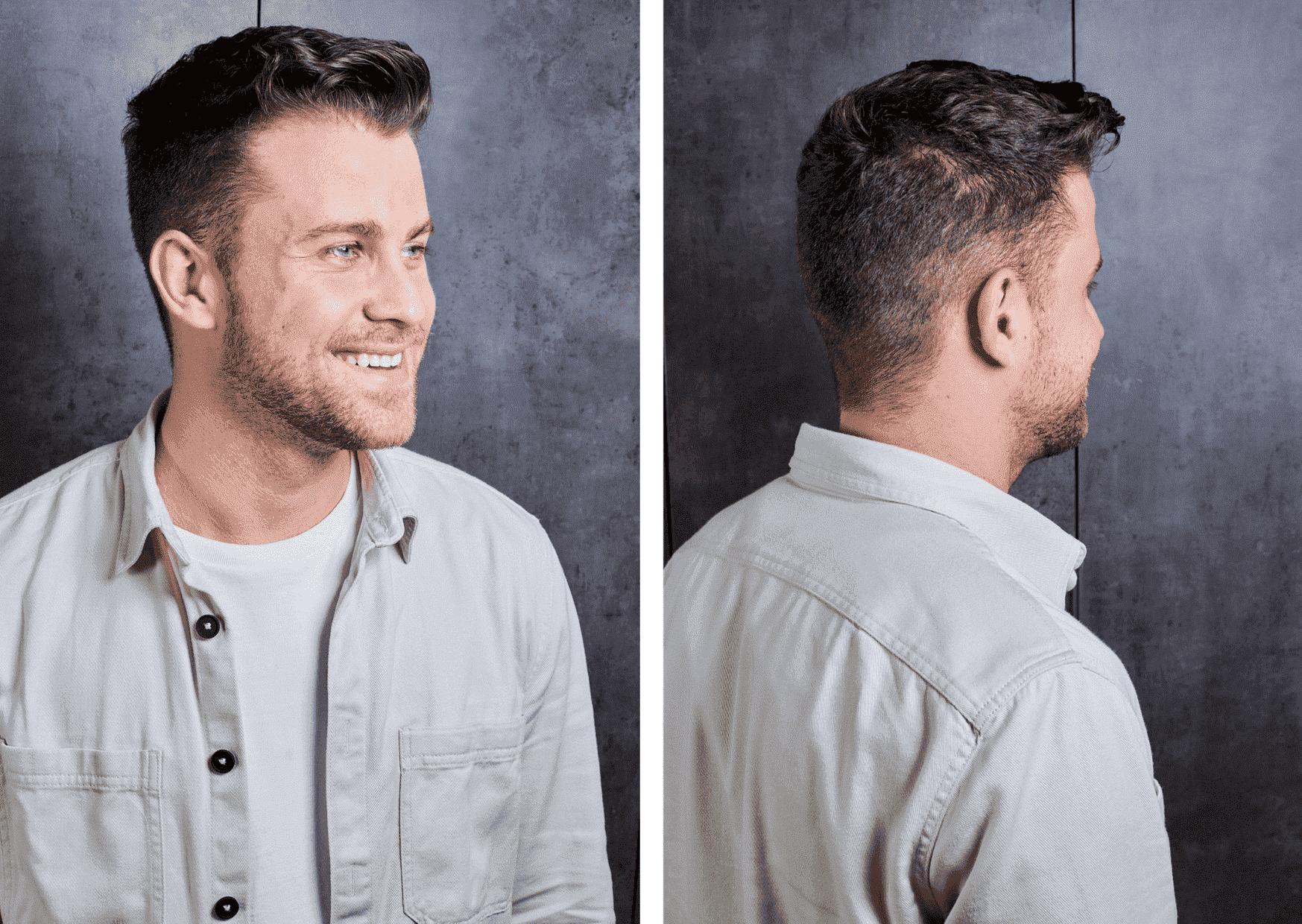 resultado peinado corte hombre