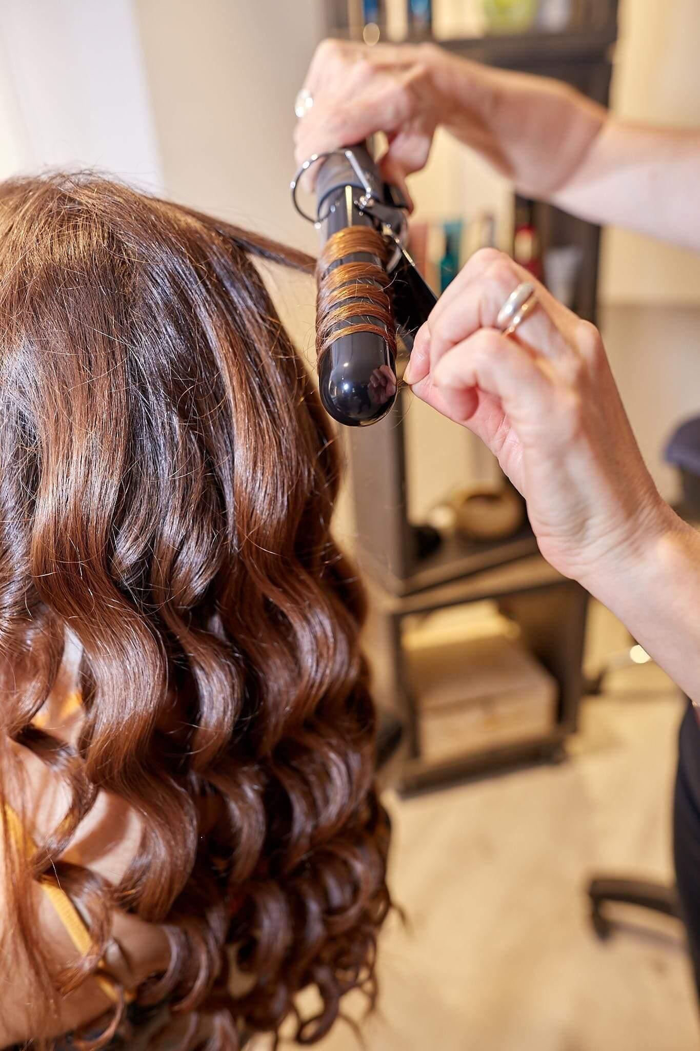 Rizos peinado boda