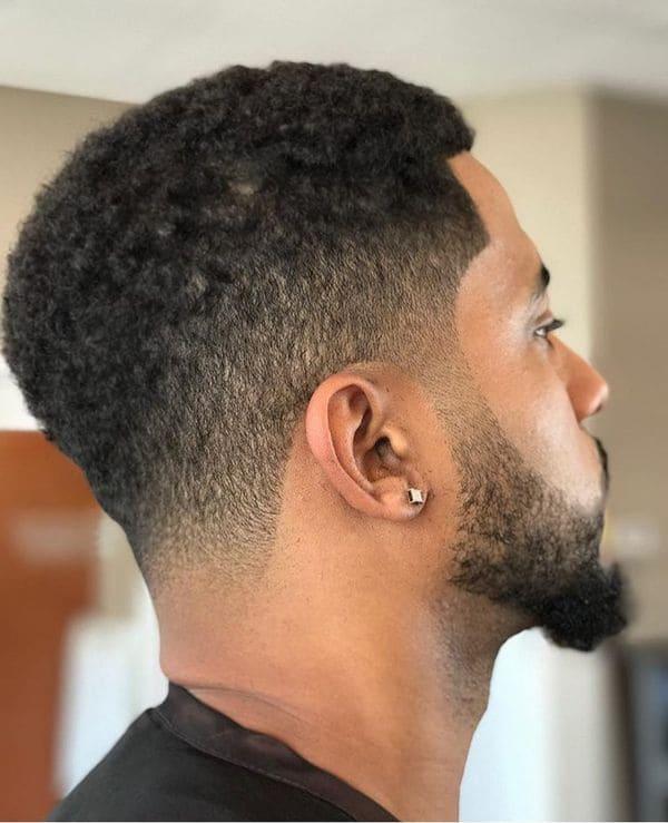 peinado para hombre afro fade