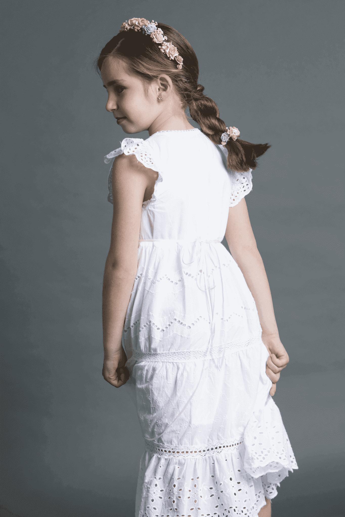 peinado comunión para niñas con trenza única