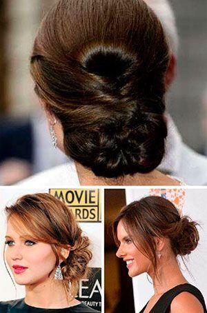 Peinados de cabello recogido para senoras